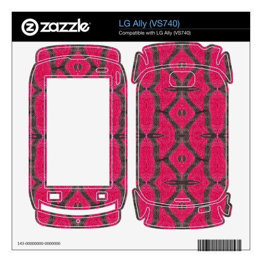 Pink Brown Pattern LG Ally Decals