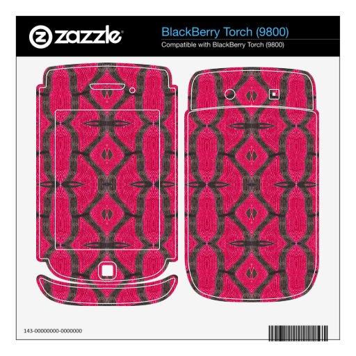 Pink Brown Pattern BlackBerry Decal