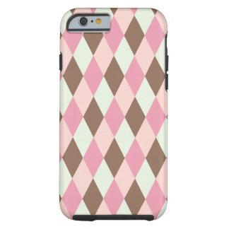 Pink & Brown Pattern Tough iPhone 6 Case