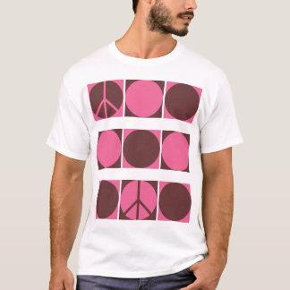 Pink & Brown Peace Dots T-Shirt