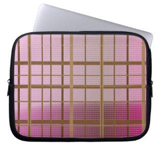Pink & Brown Plaid Sleeve