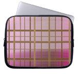 Pink & Brown Plaid Sleeve Laptop Sleeve