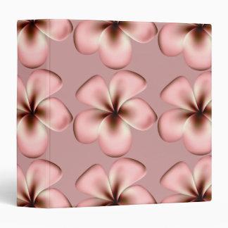 Pink & Brown Plumeria Flower Binder