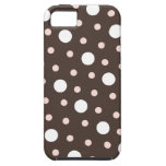 pink & brown polka dots iphone 5 case