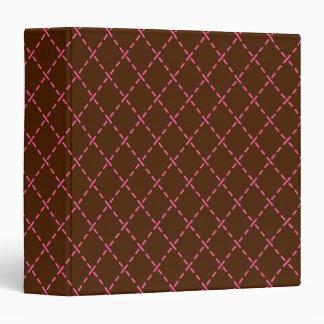 Pink Brown Retro Binder