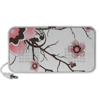 Pink & Brown Sakura Cherry Blossom Speaker doodle