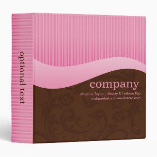Pink & Brown Sales Binder