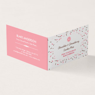 Pink Brown Sprinkles Homemade Cookie Mix Business Card