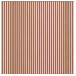 [ Thumbnail: Pink & Brown Stripes/Lines Pattern Fabric ]
