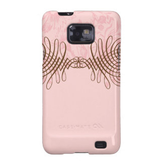 Pink & Brown Swash | Customizable Galaxy S2 Cover