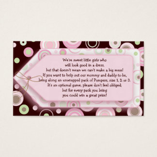 Pink Brown Sweet Girl Polka Dot Game Card