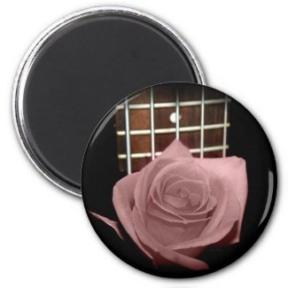 Pink brown tint rose against five string bass fret magnet