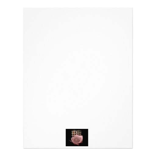 Pink brown tinted rose bloom 5 string bass fret letterhead template