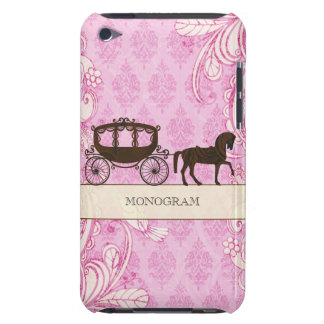 Pink & Brown Vintage Swirls  & Wedding Horse iPod Touch Cover