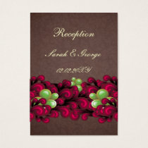 pink brown wedding Reception Cards