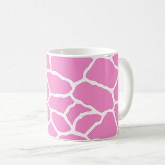 Pink Brown White Giraffe Skin Pattern Mug
