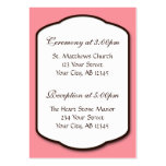 Pink Brown & White Wedding Guest Reference Cards Large Business Cards (Pack Of 100)