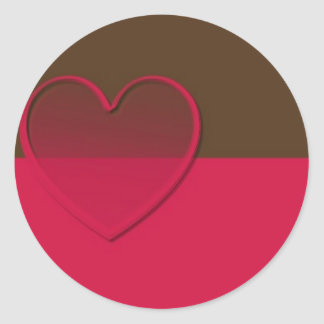 Pink & Brown with Sheer Pink Heart Stickers