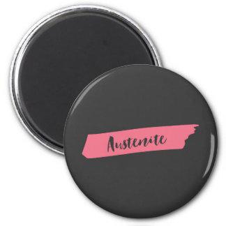 Pink Brush Austenite Magnet