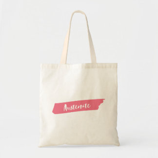 Pink Brush Austenite Tote Bag