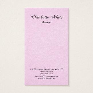 Pink Brush Script Modern Feminine Elegant Business Card
