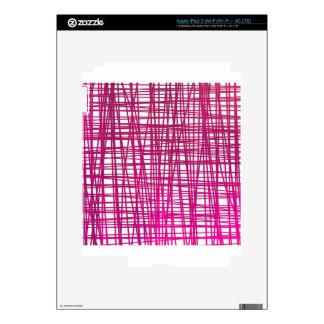Pink Brushstroke Watercolor Stripes iPad 3 Decals