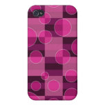 Pink Bubble Checkered Print iPhone Case 4 iPhone 4 Case