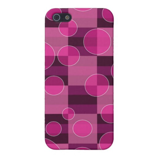 Pink Bubble Checkered Print iPhone Case 4 Cases For iPhone 5