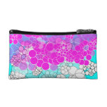 Pink Bubble Flower Cosmetic Bag