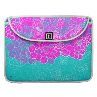 Pink Bubble Flower Flap Sleeve 1 Sleeve For MacBook Pro