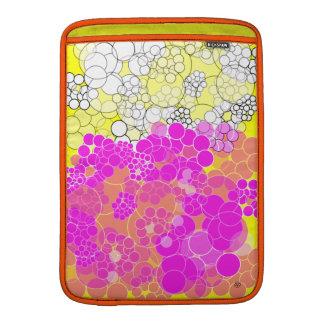 Pink Bubble Flower Macbook Air Sleeve 1