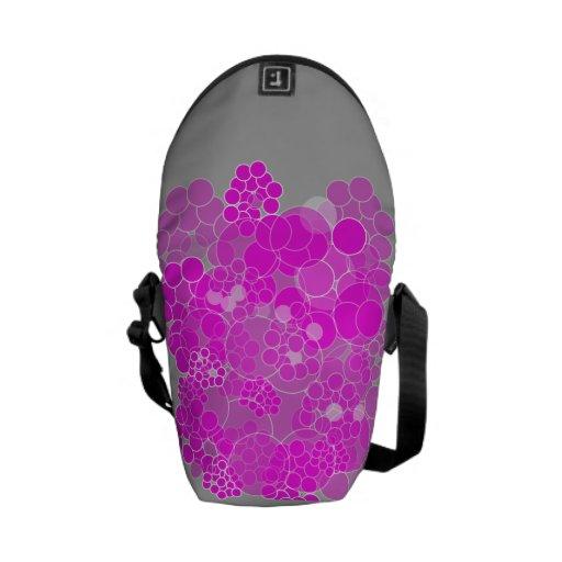 Pink Bubble Flower Mini Messenger Bag 3