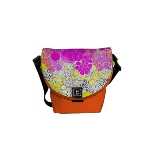 Pink Bubble Flower Mini Messenger Bag 5