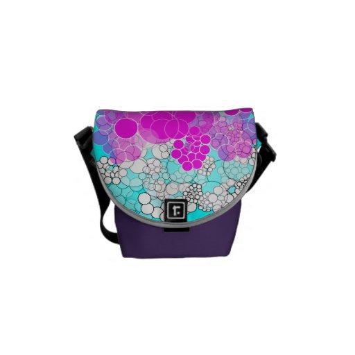 Pink Bubble Flower Mini Messenger Bag 6