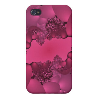 pink bubble gum fractal i iPhone 4 cover