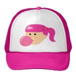 Pink Bubble Gum Girl Hat