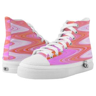 Pink Bubble Gum Hi Top Printed Shoes