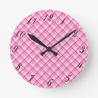 Pink Bubble Gum Round Clock