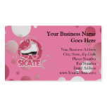 Pink Bubble Swirl Roller Skate, Skating Double-Sided Standard Business Cards (Pack Of 100)