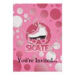 Pink Bubble Swirl Roller Skate, Skating Invitations