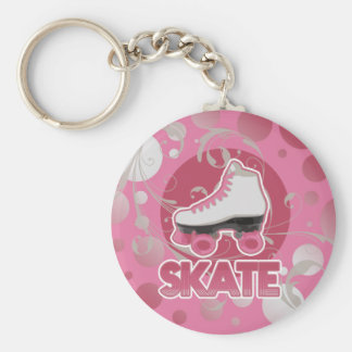 Pink Bubble Swirl Roller Skate, Skating Keychain