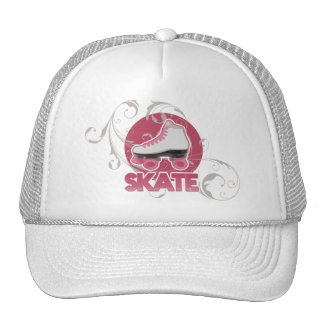 Pink Bubble Swirl Roller Skate, Skating Mesh Hat
