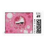 Pink Bubble Swirl Roller Skate, Skating Postage