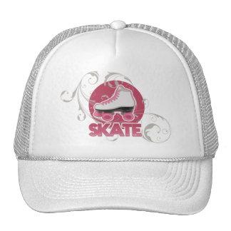 Pink Bubble Swirl Roller Skate, Skating Trucker Hat