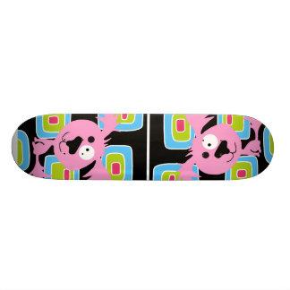Pink Bubblegum Retro Dog Skateboard