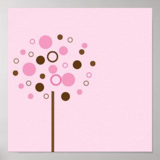 Pink Bubblegum Tree Poster