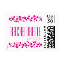 Pink Bubbles Bachelorette Party Postage Stamps