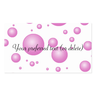 Pink Bubbles Business Cards Template