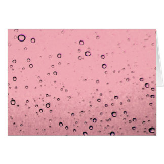 Pink Bubbles Card