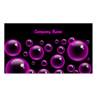 Pink Bubbles, Company Name Double-Sided Standard Business Cards (Pack Of 100)